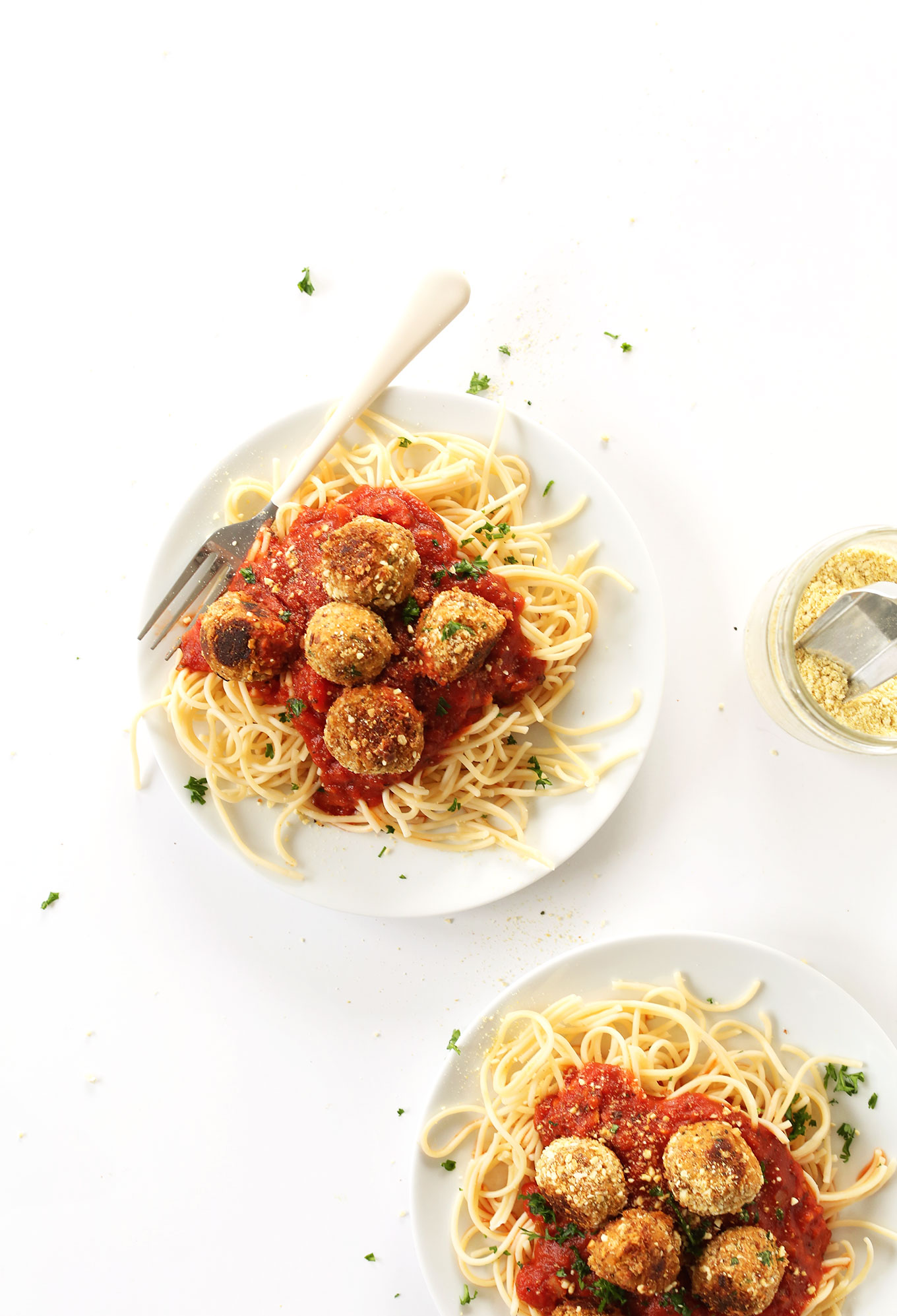 EASY vegan meatballs just 10 ingredients and PACKED with protein!! #vegan #minimalistbaker