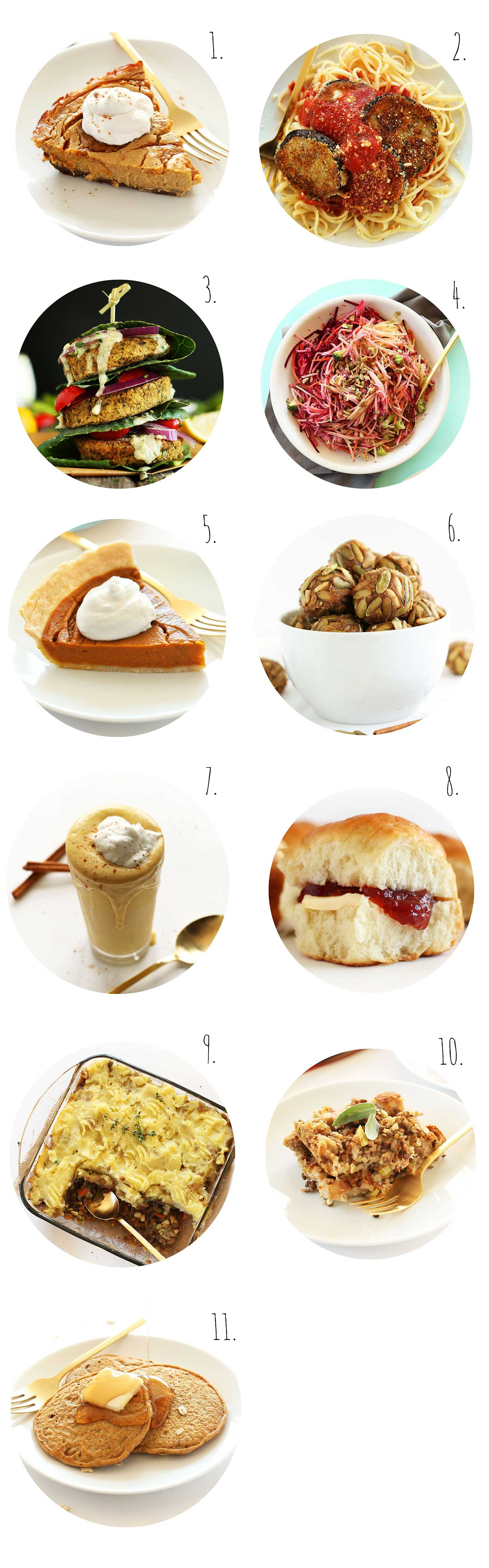 Collection of recipe photos for our Best of November post