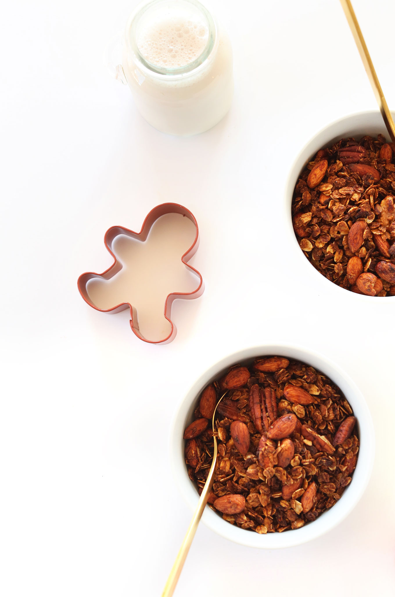 Bowls of our delicious Gingerbread Granola recipe