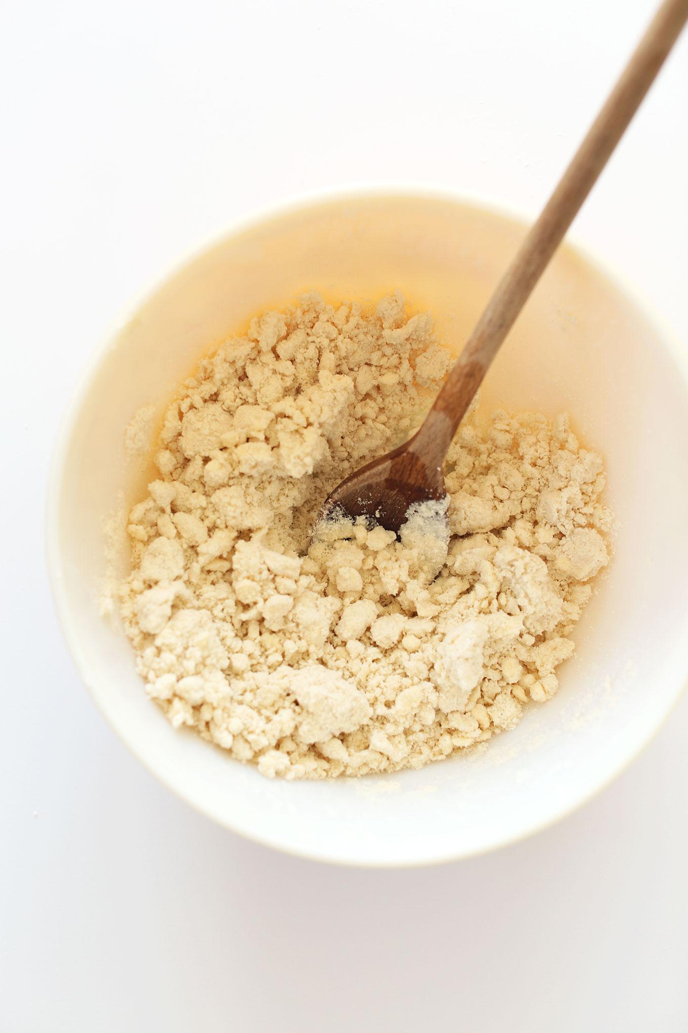 Bowl of gluten-free pie crust dough