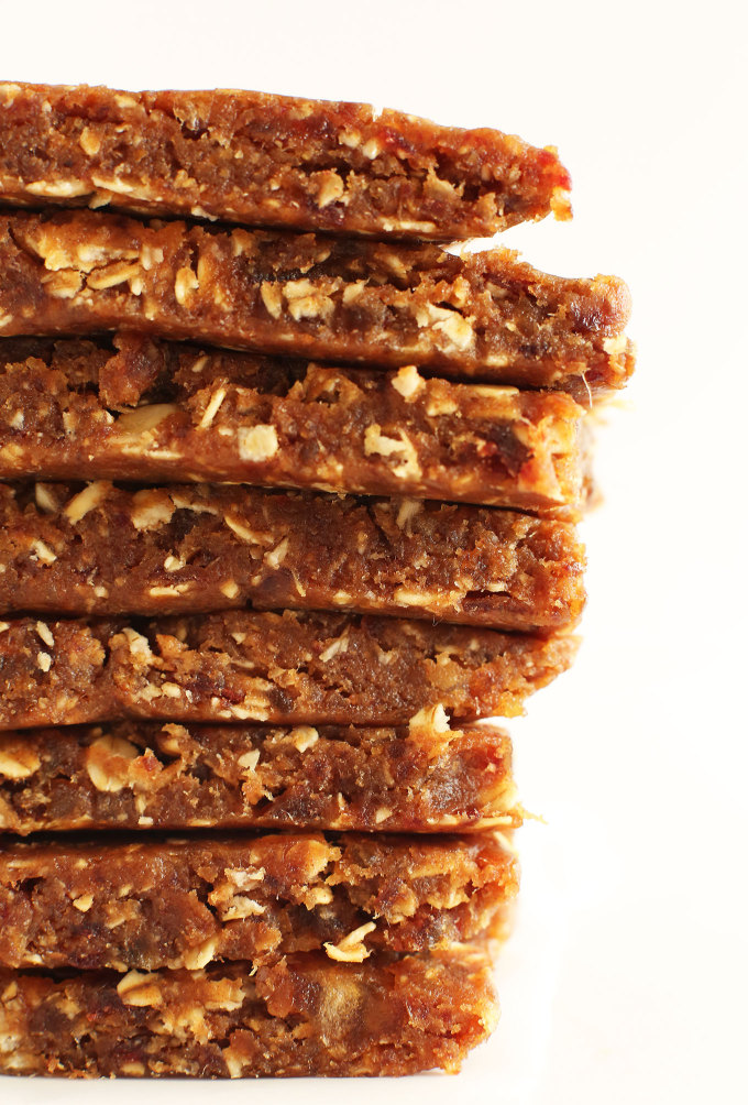 3 Ingredient Peanut Butter Granola Bars Minimalist Baker