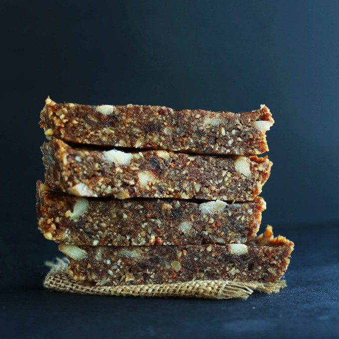 Stack of our Copycat Apple Pie Lara Bar recipe