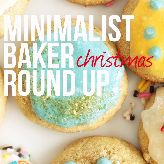 Sugar cookies overlaid with text for our Christmas Recipe Round Up