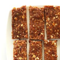 Batch of Peanut Butter Granola Bars on a plate