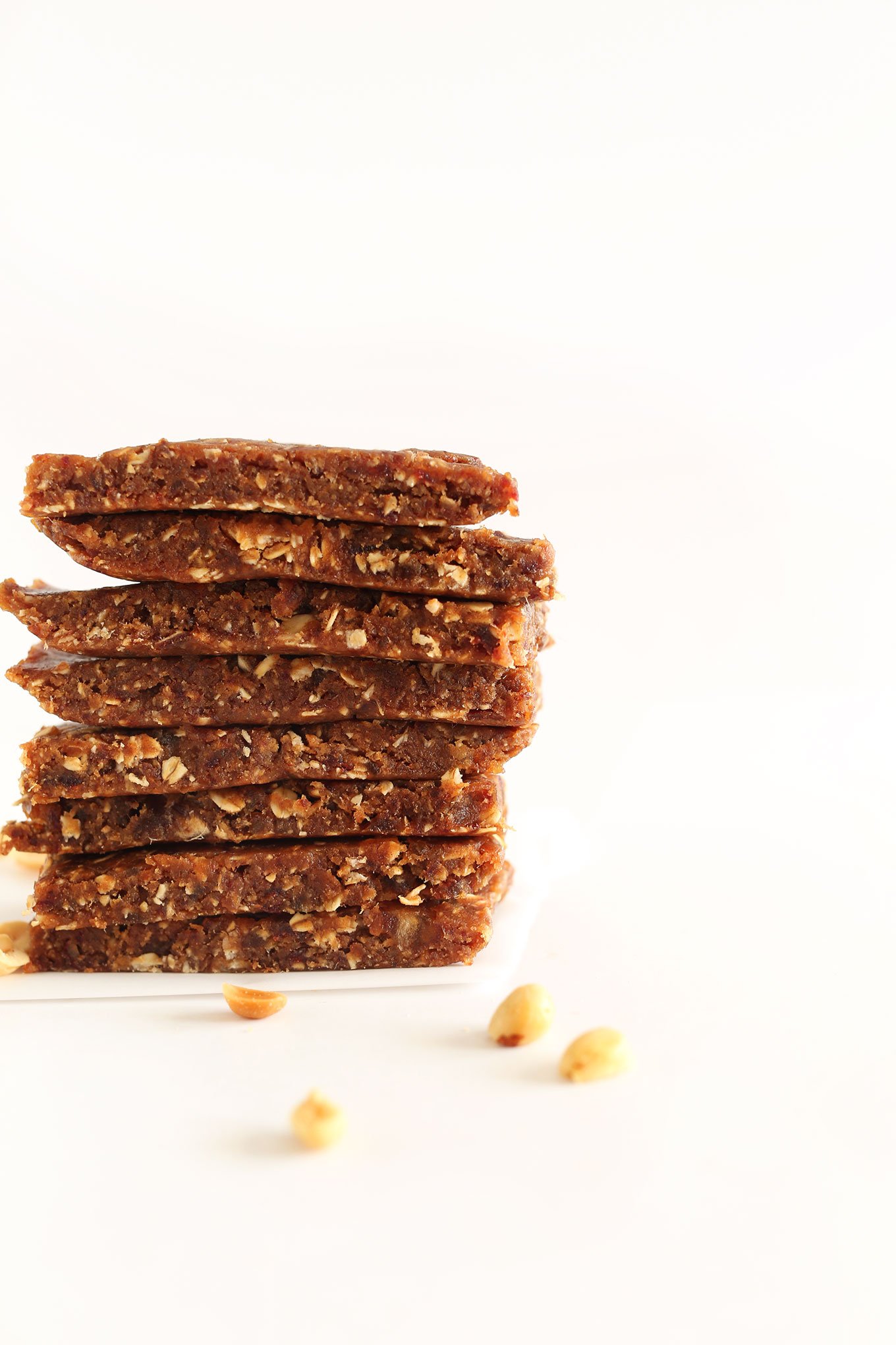 Stack of simple homemade Peanut Butter Granola Bars