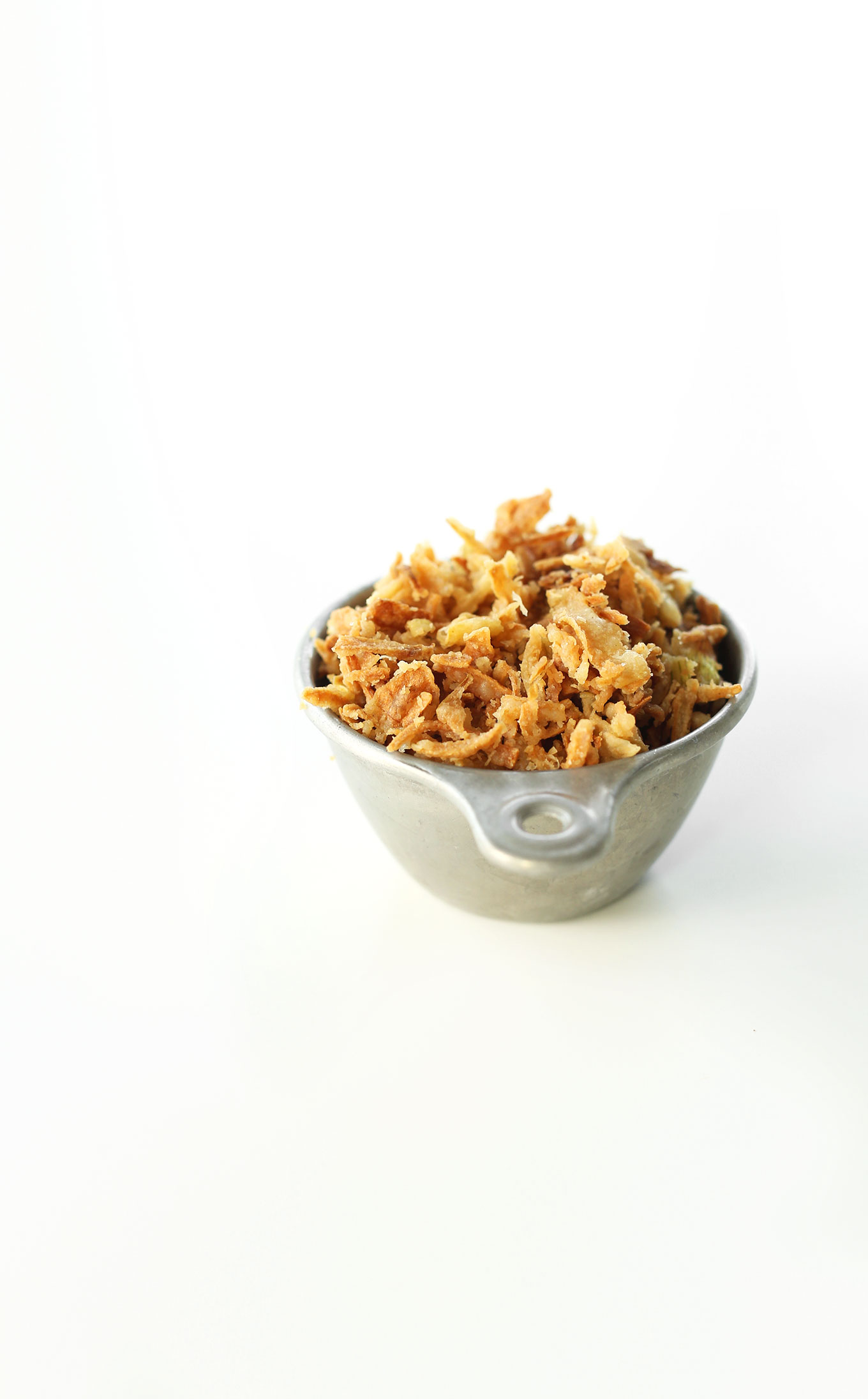 Vegan Crispy Fried Onions for making a homemade Green Bean Casserole