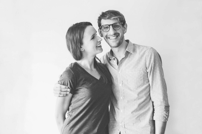 Cute photo of John and Dana of Minimalist Baker