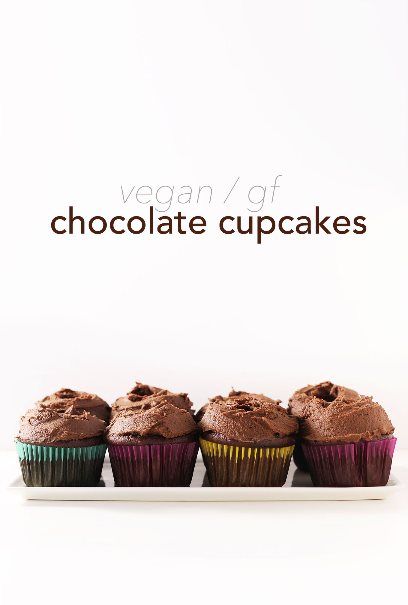 Batch of our delicious 1-Bowl Vegan Gluten-Free Chocolate Cupcakes