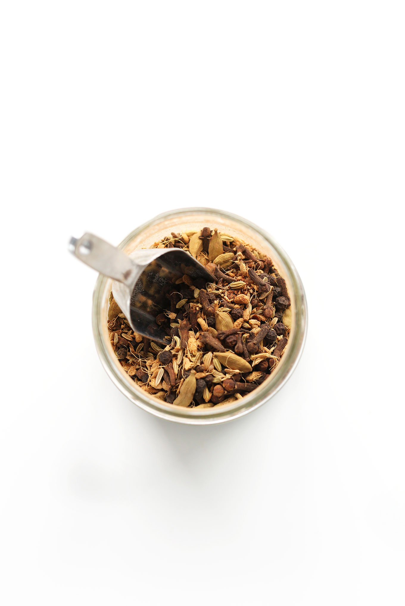 Grabbing a scoop of our homemade Chai Spice Mix