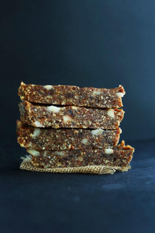Stack of our Copycat Apple Pie Lara Bar recipe