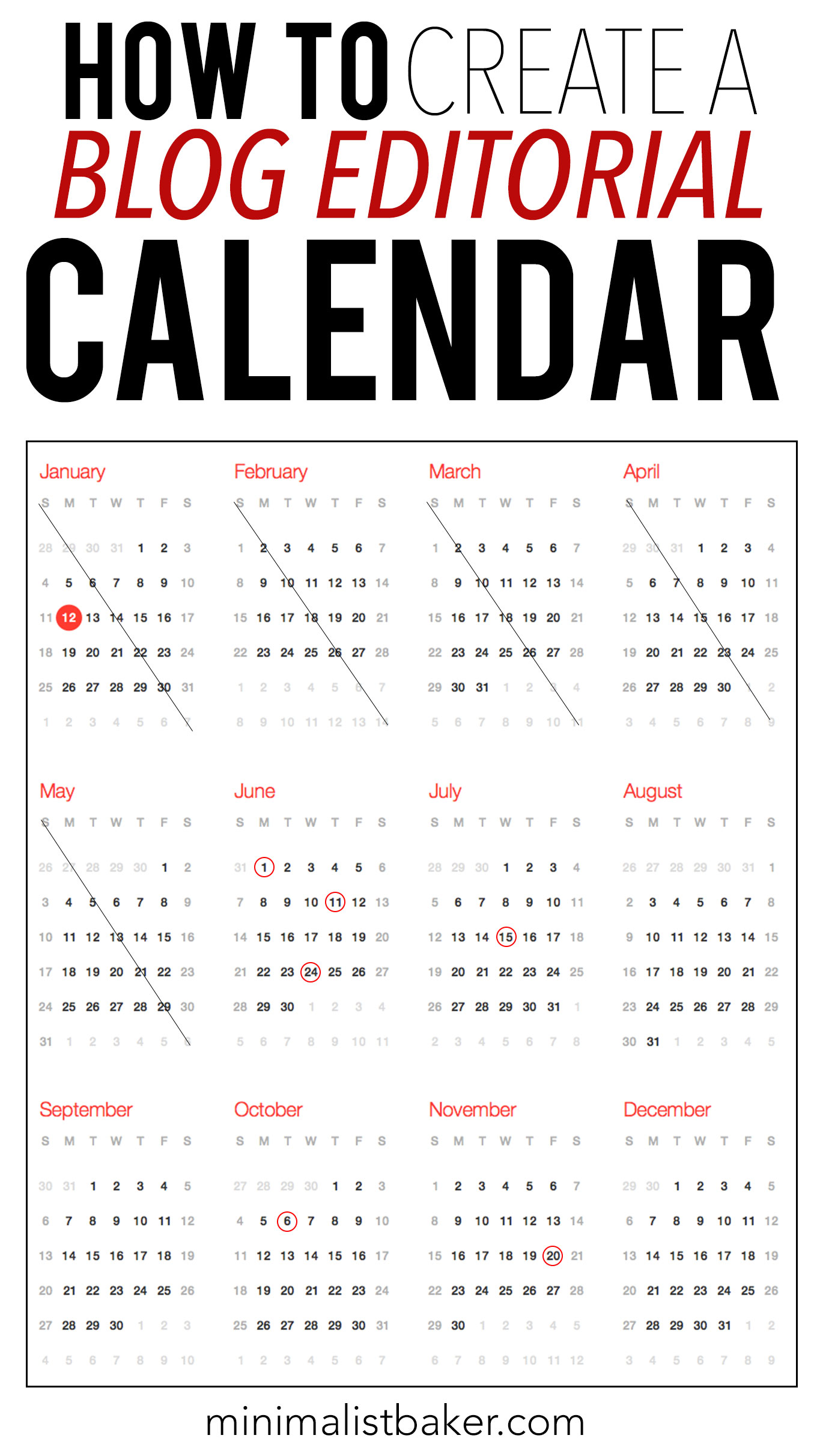 blog editorial calendar tips