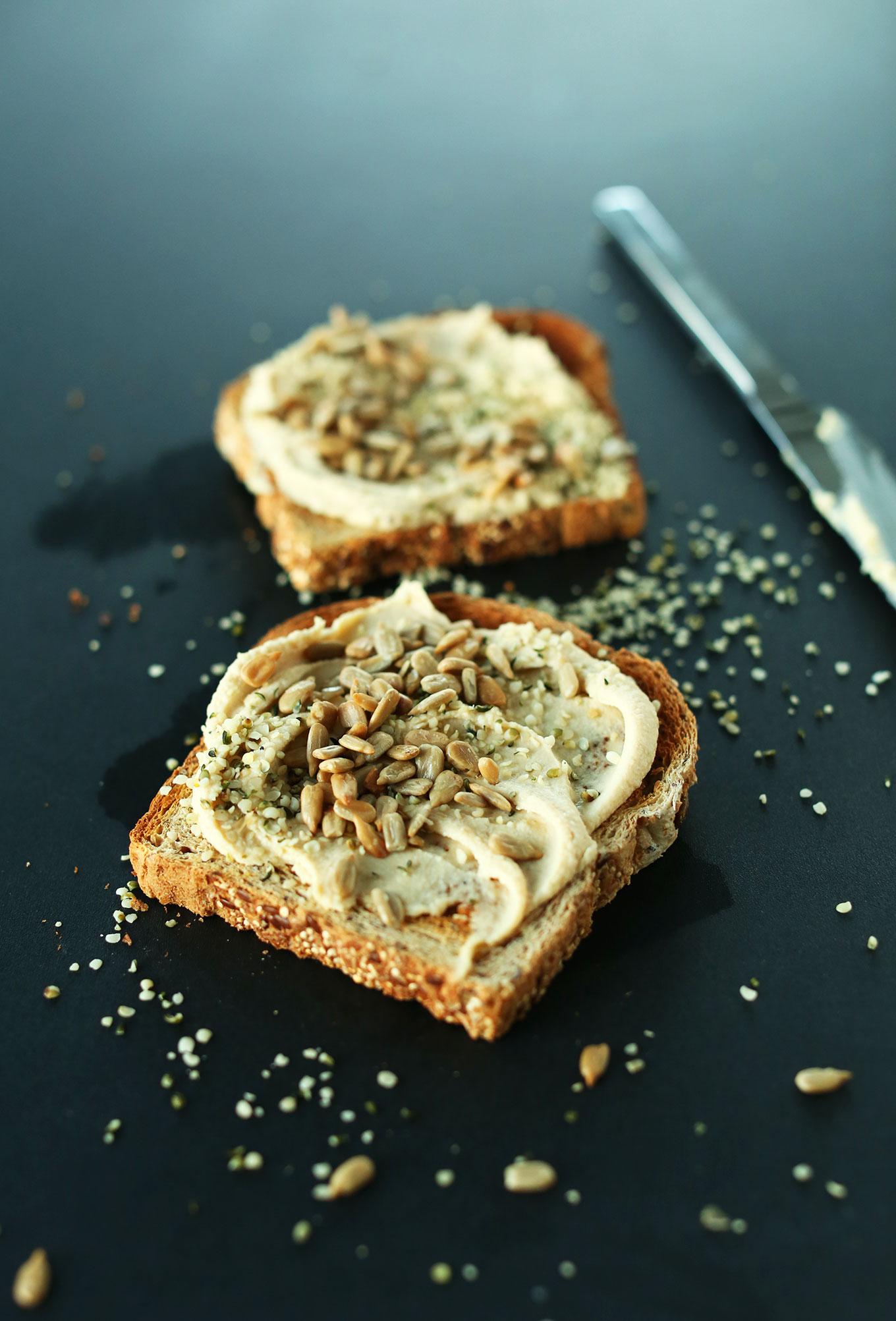 Hummus on Toast | Vegan Meal Ideas #minimalistbaker