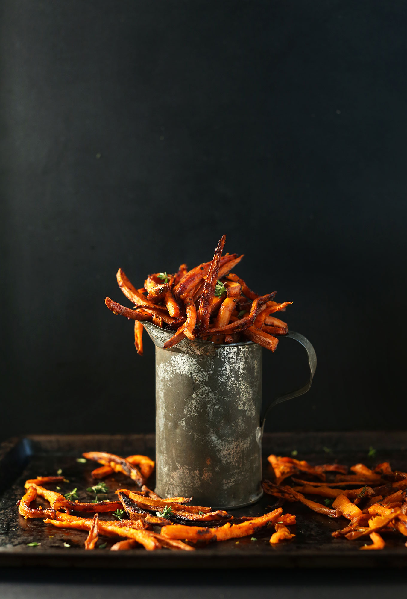Freshly baked Sweet Potato Fries made with cajun spices