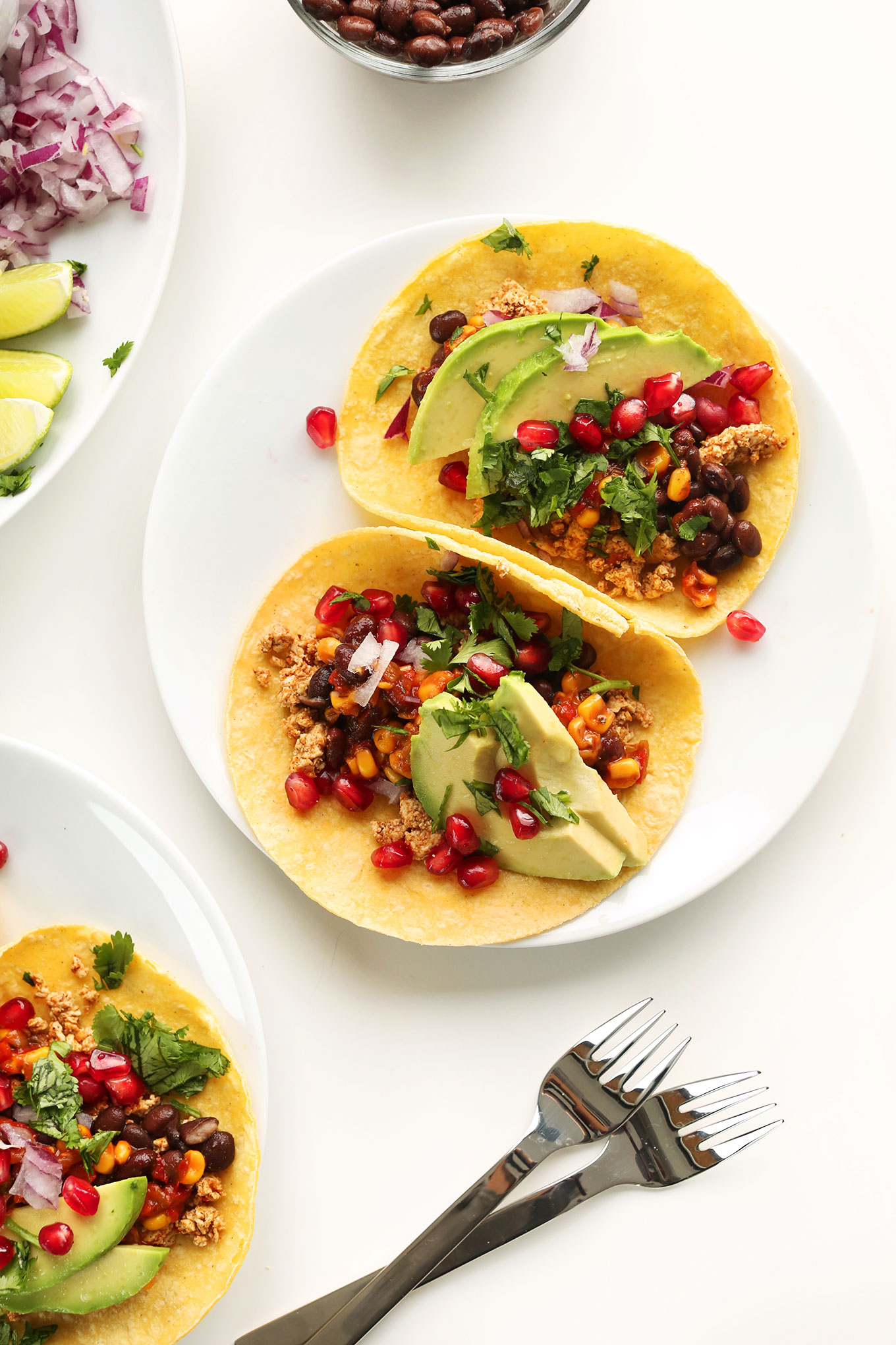 Vegan breakfast tacos minimalist baker recipes plates of tofu black bean tacos for a healthy vegan dinner forumfinder Choice Image