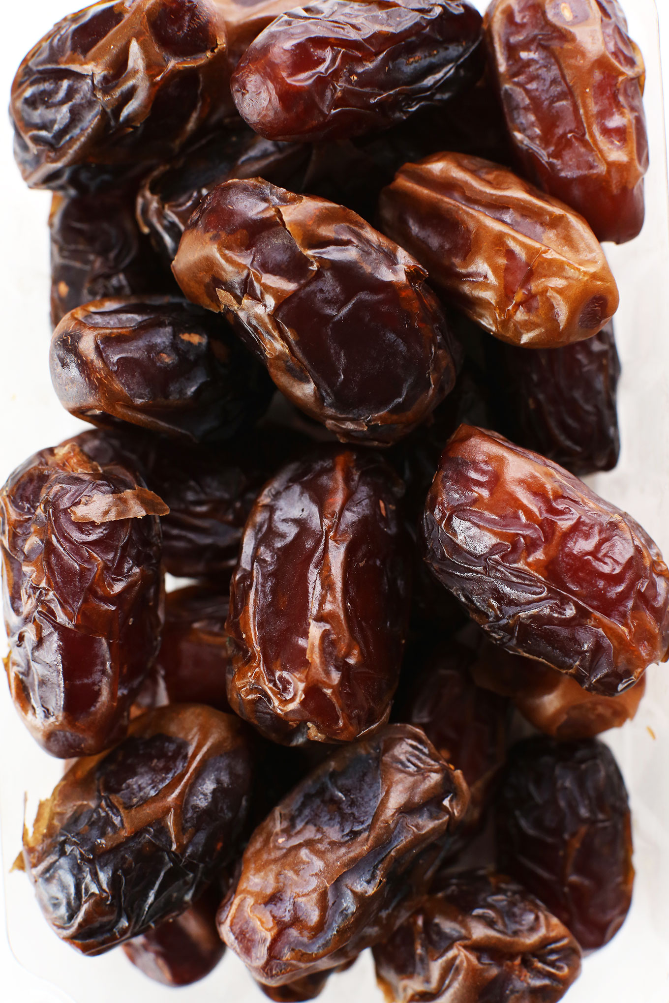 Bowl of dates for making homemade vegan Dulce de Leche pops