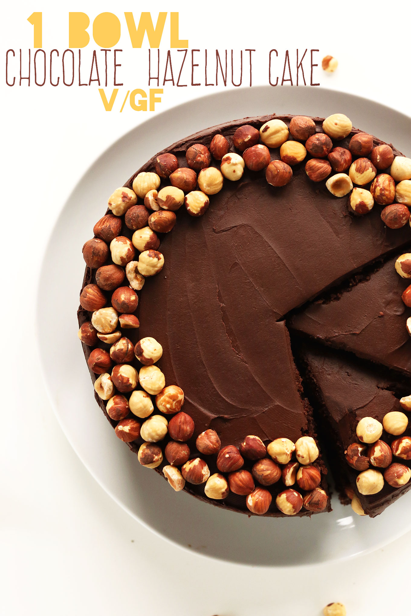 Rich and fudgy Chocolate Hazelnut Cake for a special gluten-free vegan dessert