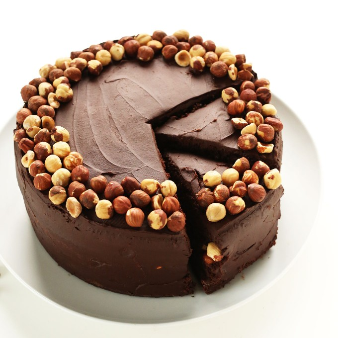 Beautiful and delicious Vegan Gluten-Free Chocolate Hazelnut Cake