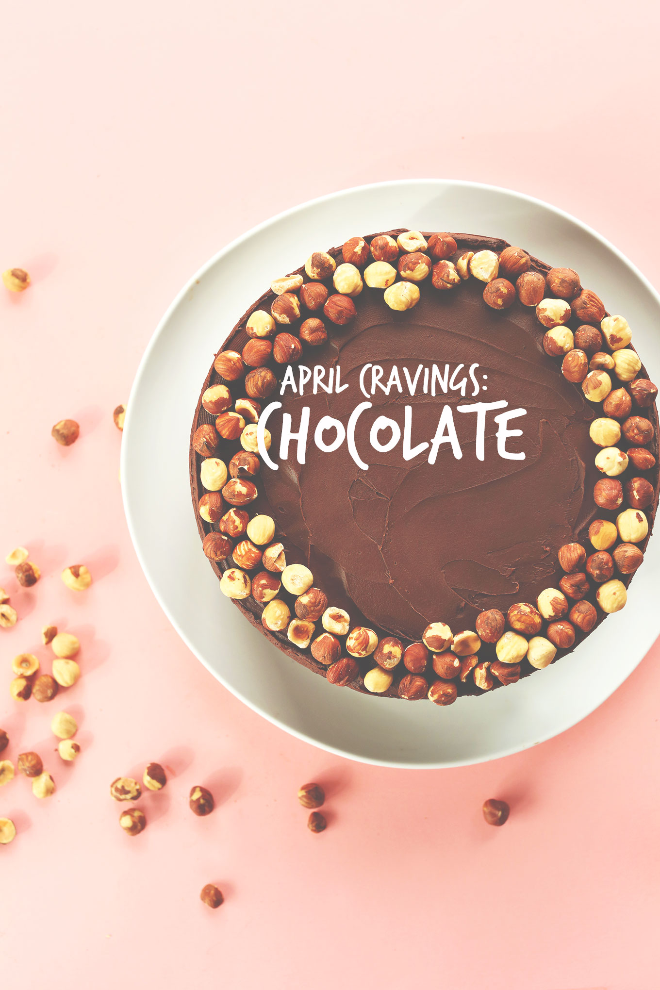 Chocolate Hazelnut Cake to represent our April Craving