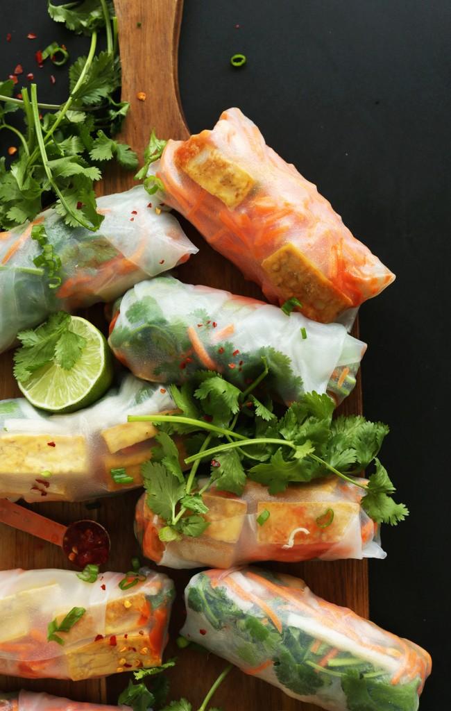 Banh Mi Spring Rolls Minimalist Baker Recipes