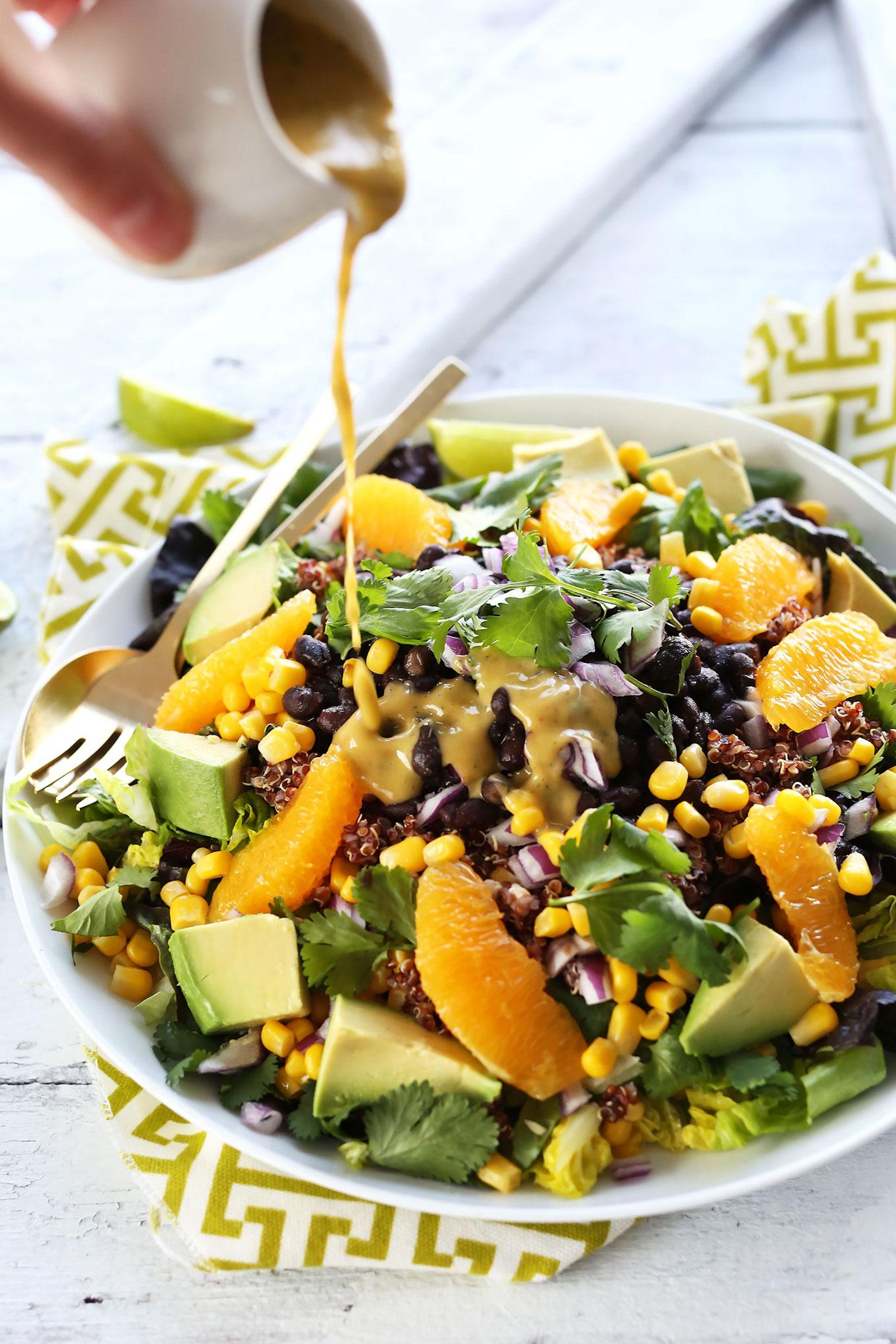 Black Bean Quinoa Salad With Orange Lime Dressing Mb Recipes