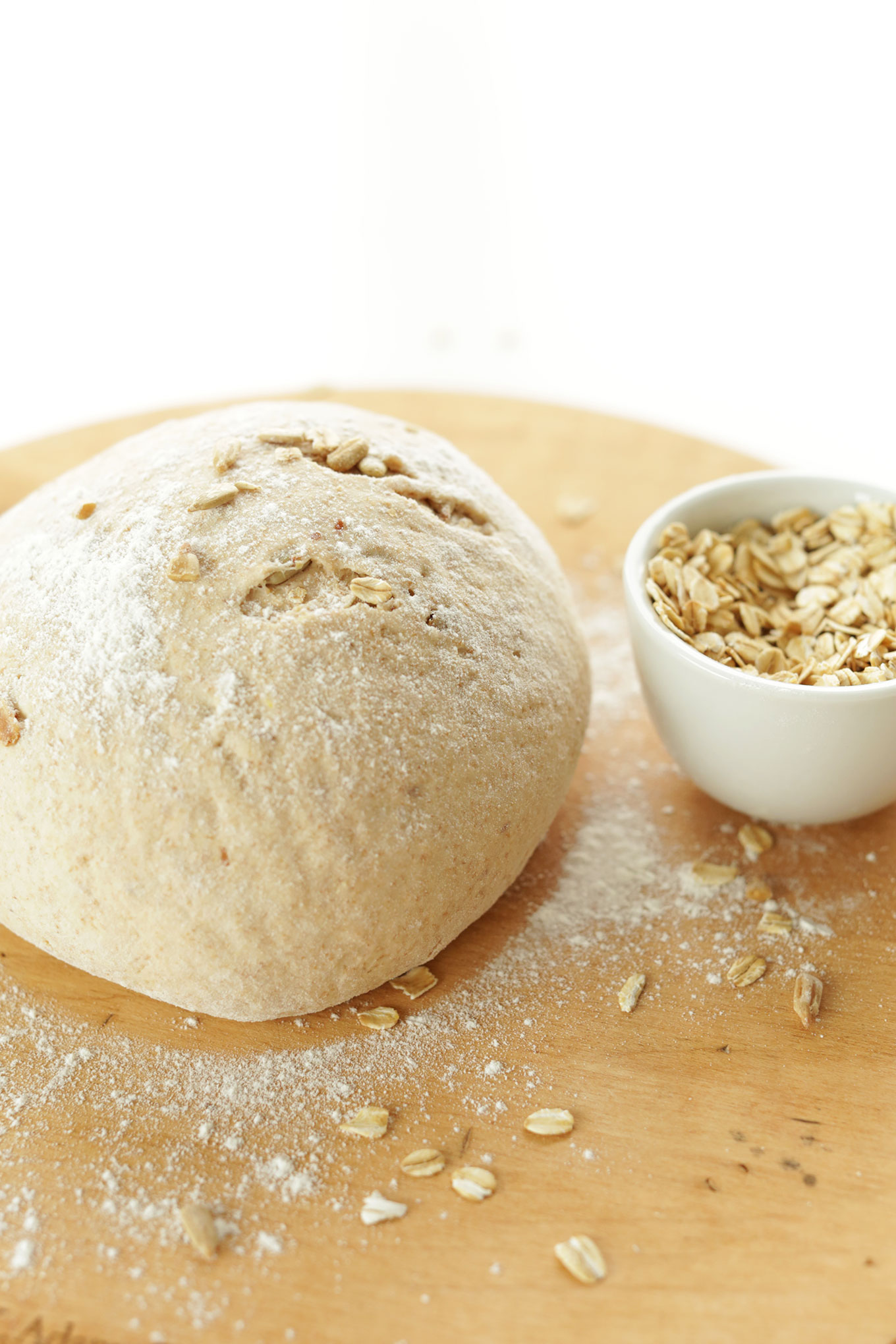 Loaf of our simple homemade Whole Grain Seedy Vegan Bread that's perfect for making sandwiches