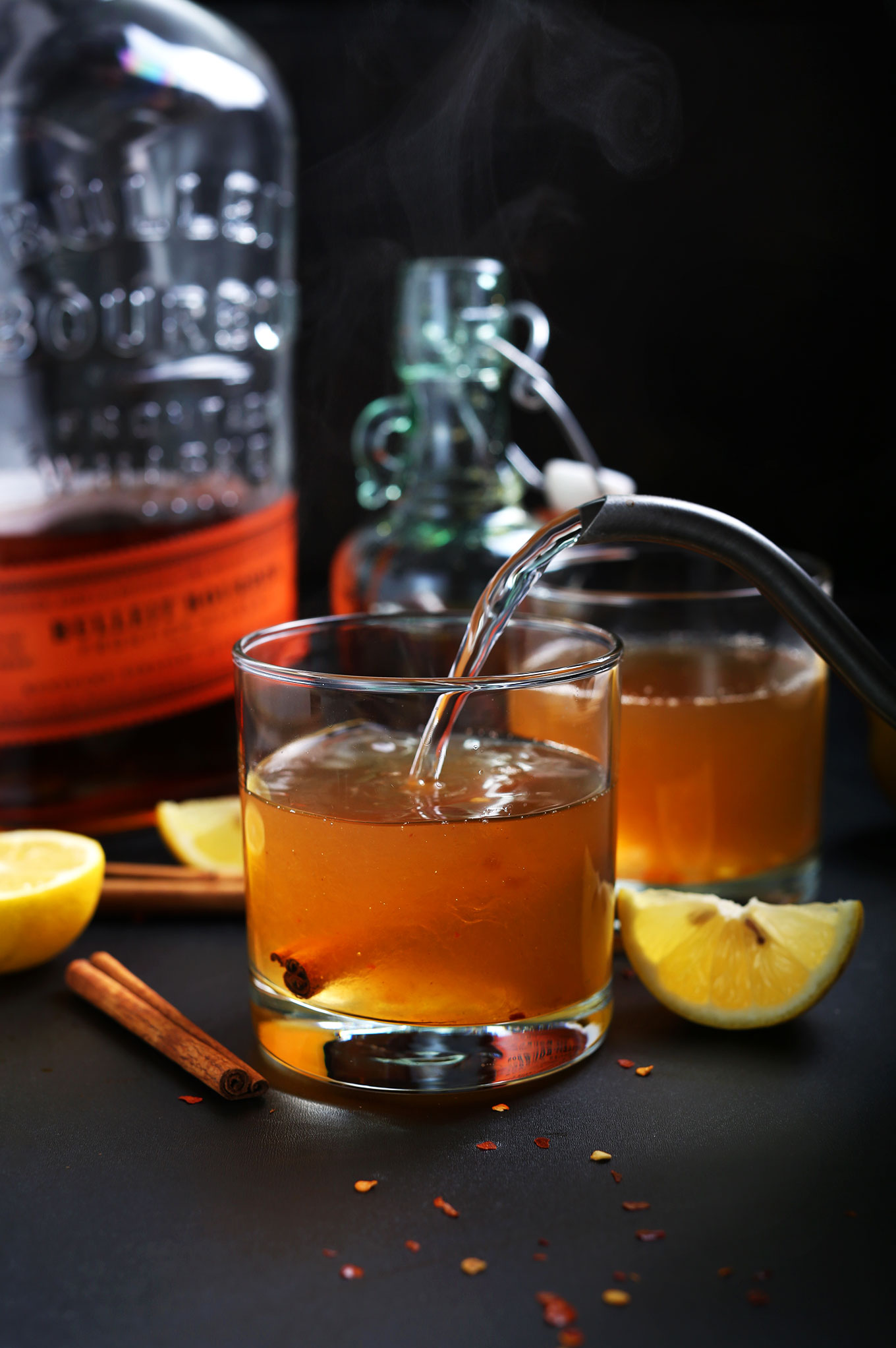 Cinnamon bourbon hot toddy minimalist baker recipes for Hot toddy drink recipe