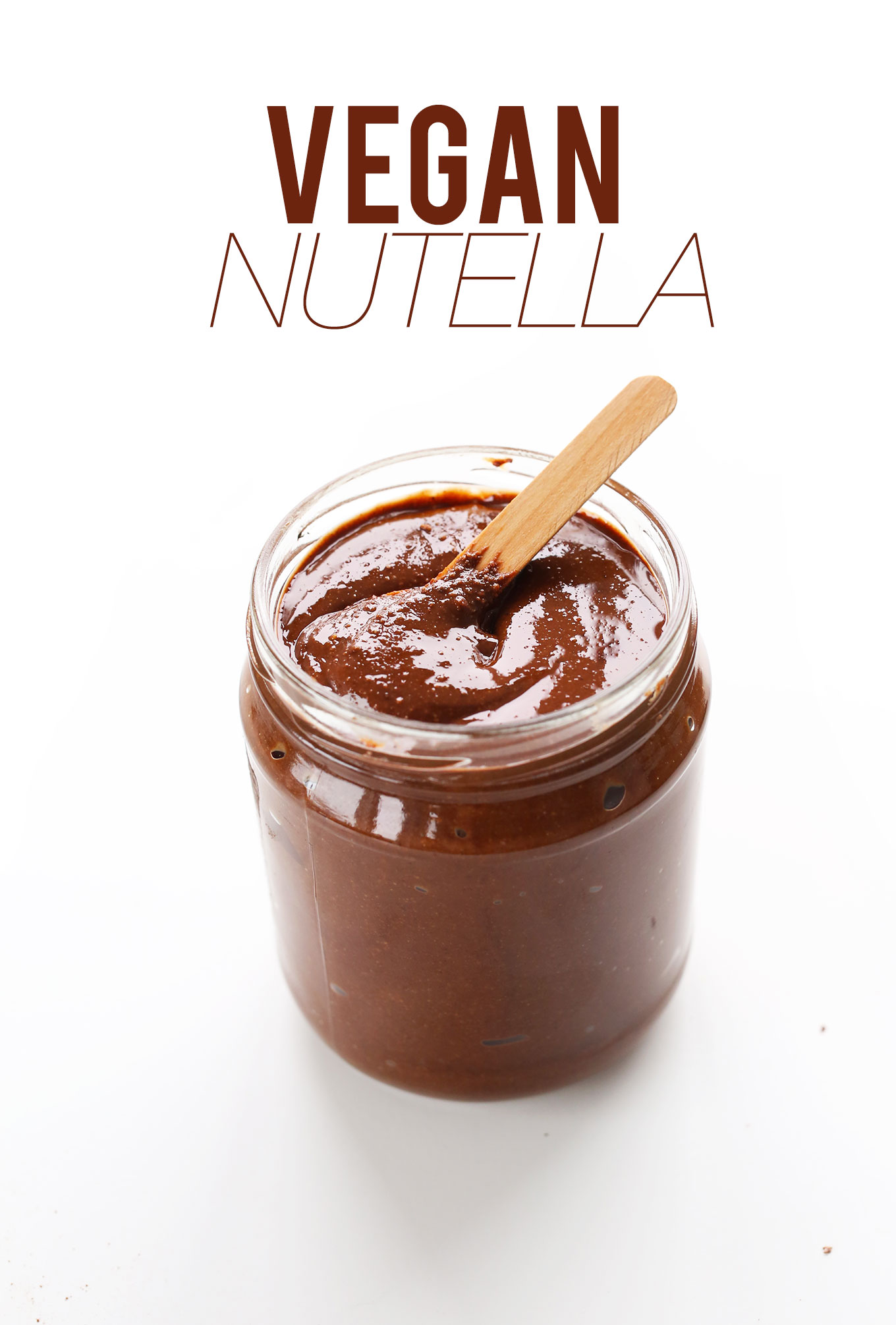 Jar of our delicious homemade gluten-free vegan Nutella recipe