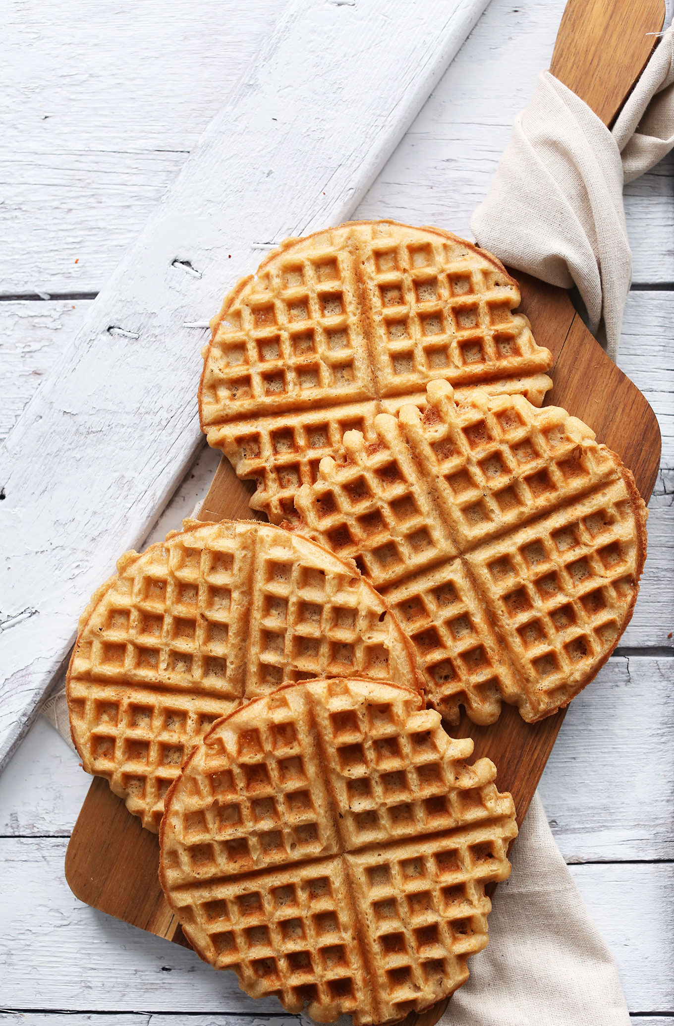 Easy homemade Yogurt Waffles that are vegan and gluten-free