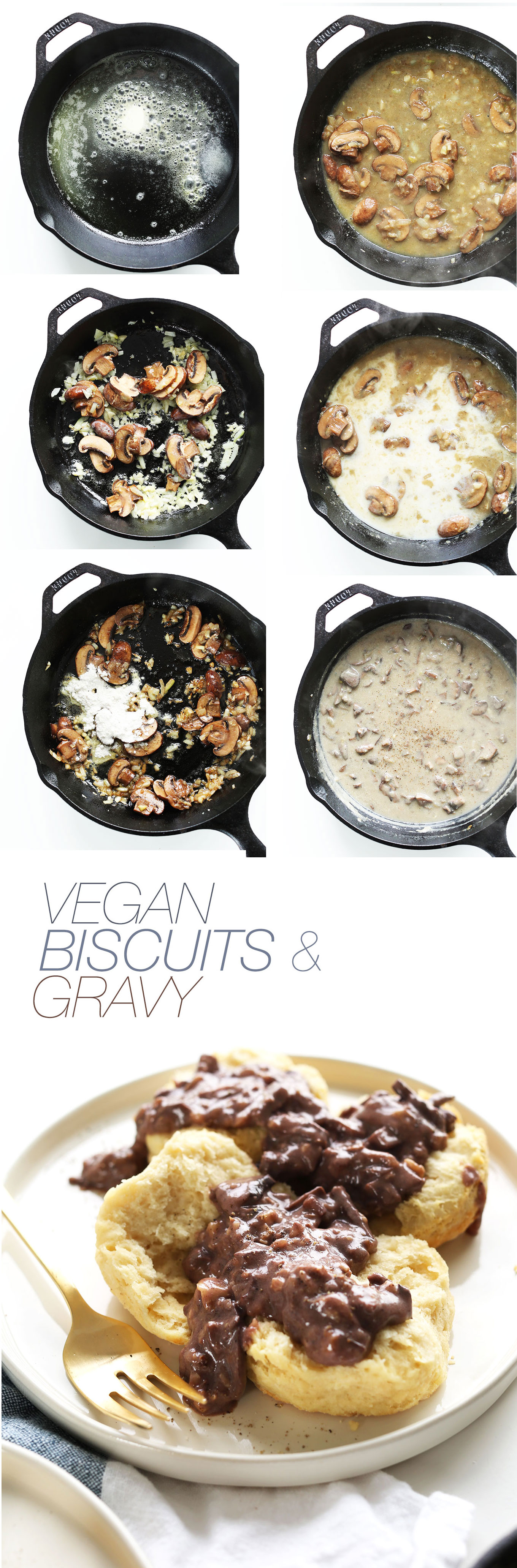EASY Vegan Biscuits and Gravy! #vegan #minimalistbaker