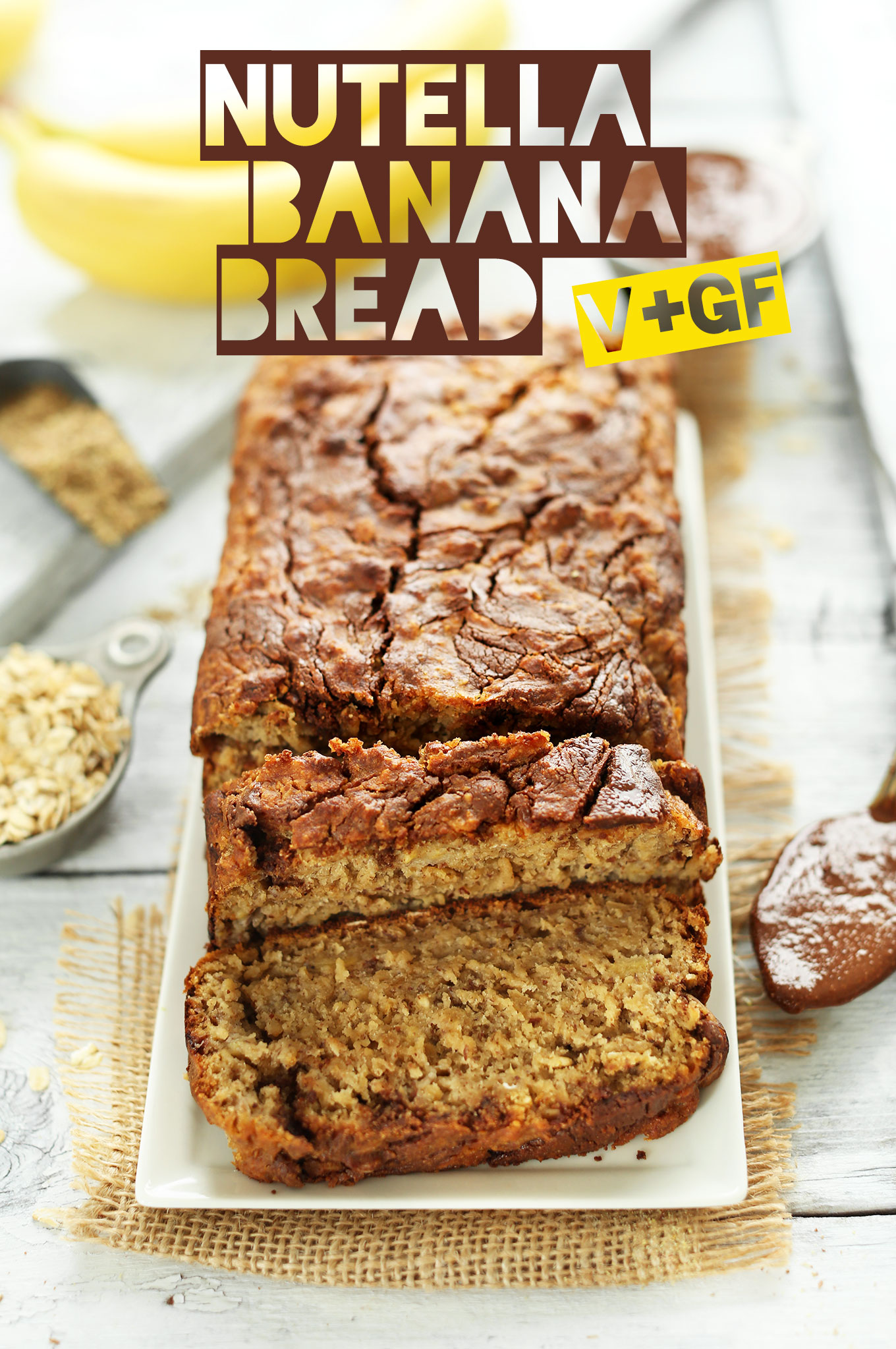 1-Bowl VEGAN Nutella Banana Bread! #vegan #glutenfree #minimalistbaker