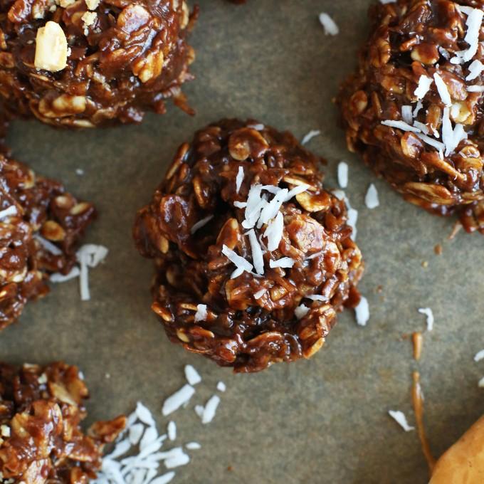 Coconut No-Bake Cookies for a delicious gluten-free vegan dessert