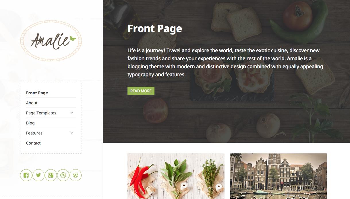 Amalie Theme for WordPress Blogs