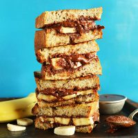 Stack of Grilled Nutella Banana Sandwiches