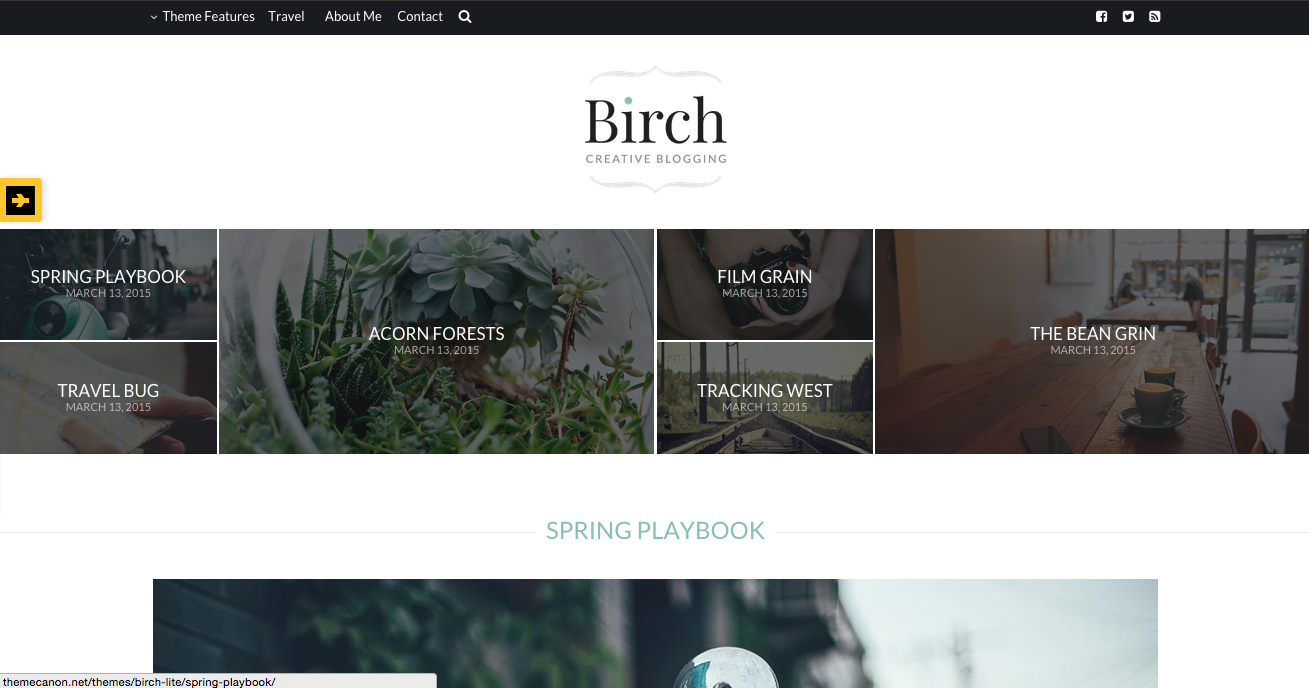 Birch Theme for WordPress Blogs