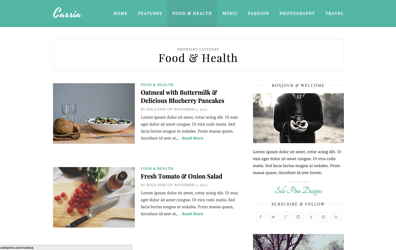 Cassia Theme for WordPress Blogs