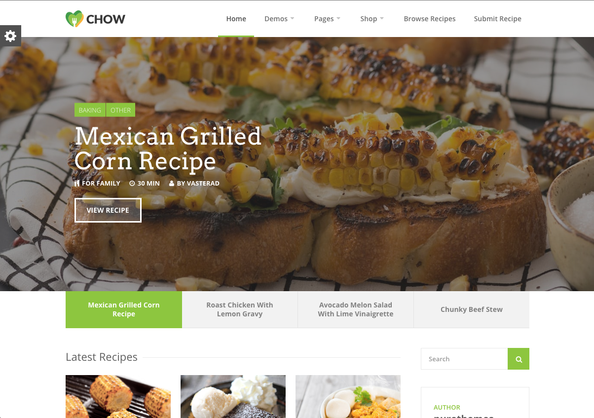 Chow Theme for a WordPress Food Blog