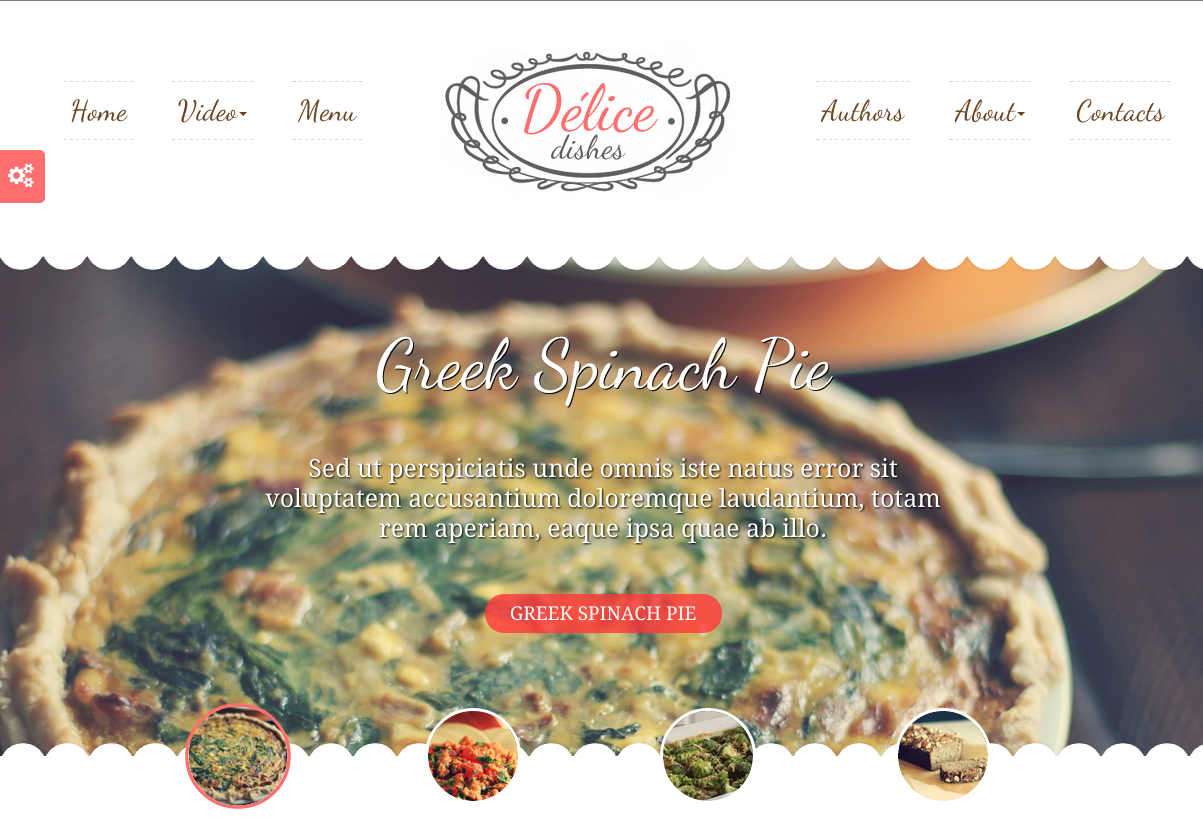 Delice Dishes Theme for a WordPress Food Blog