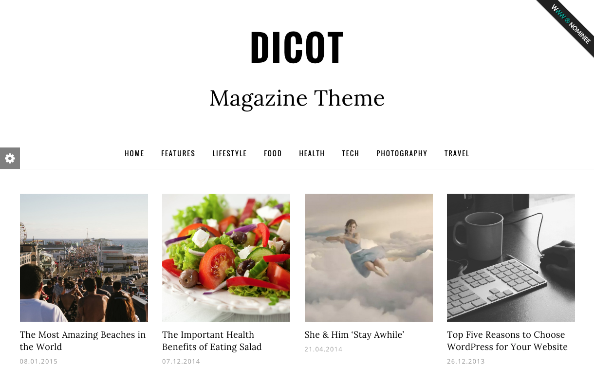 Dicot Magazine Theme for WordPress Blogs