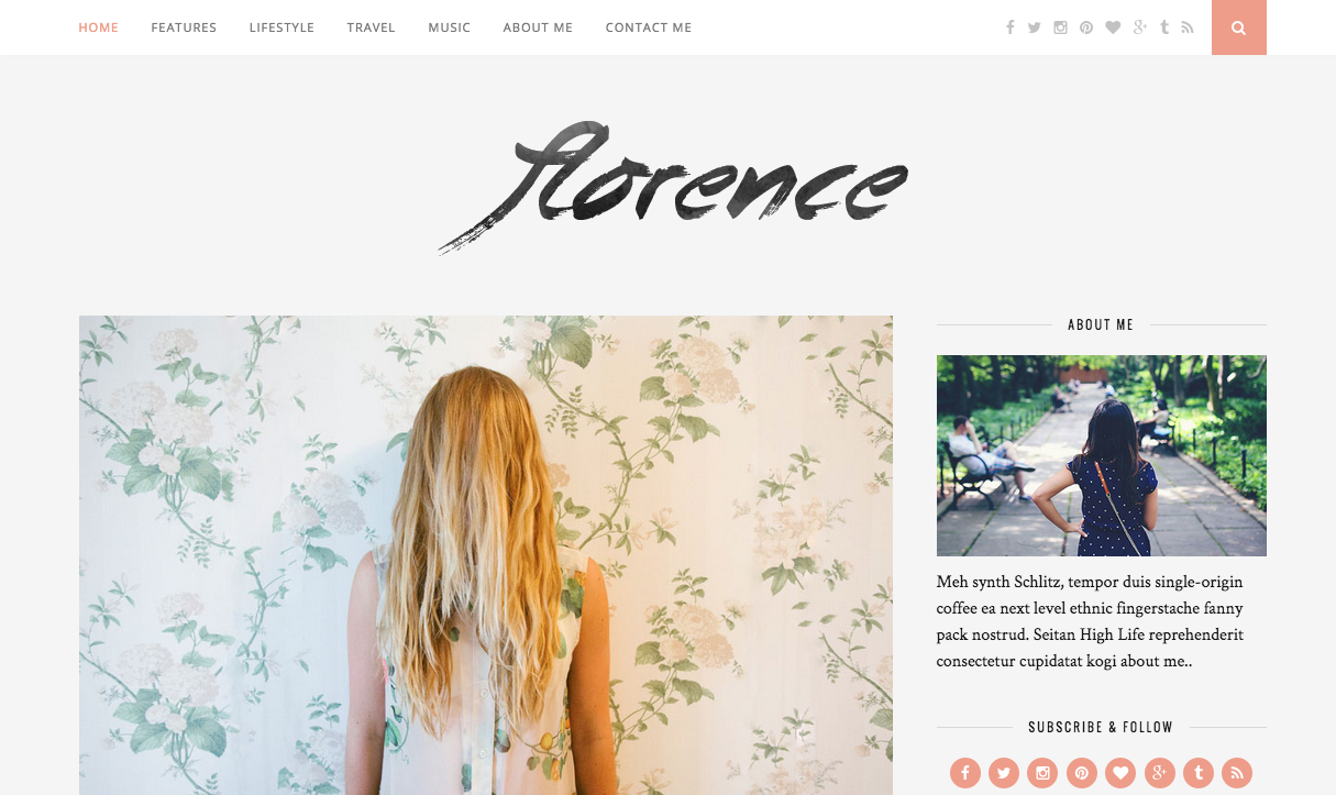 Florence WordPress Theme for Food Blogs