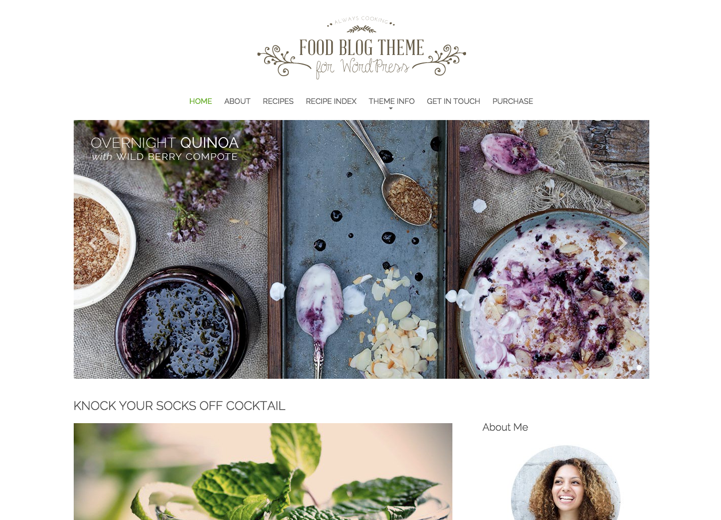 Food Blog Theme perfect for a WordPress blog