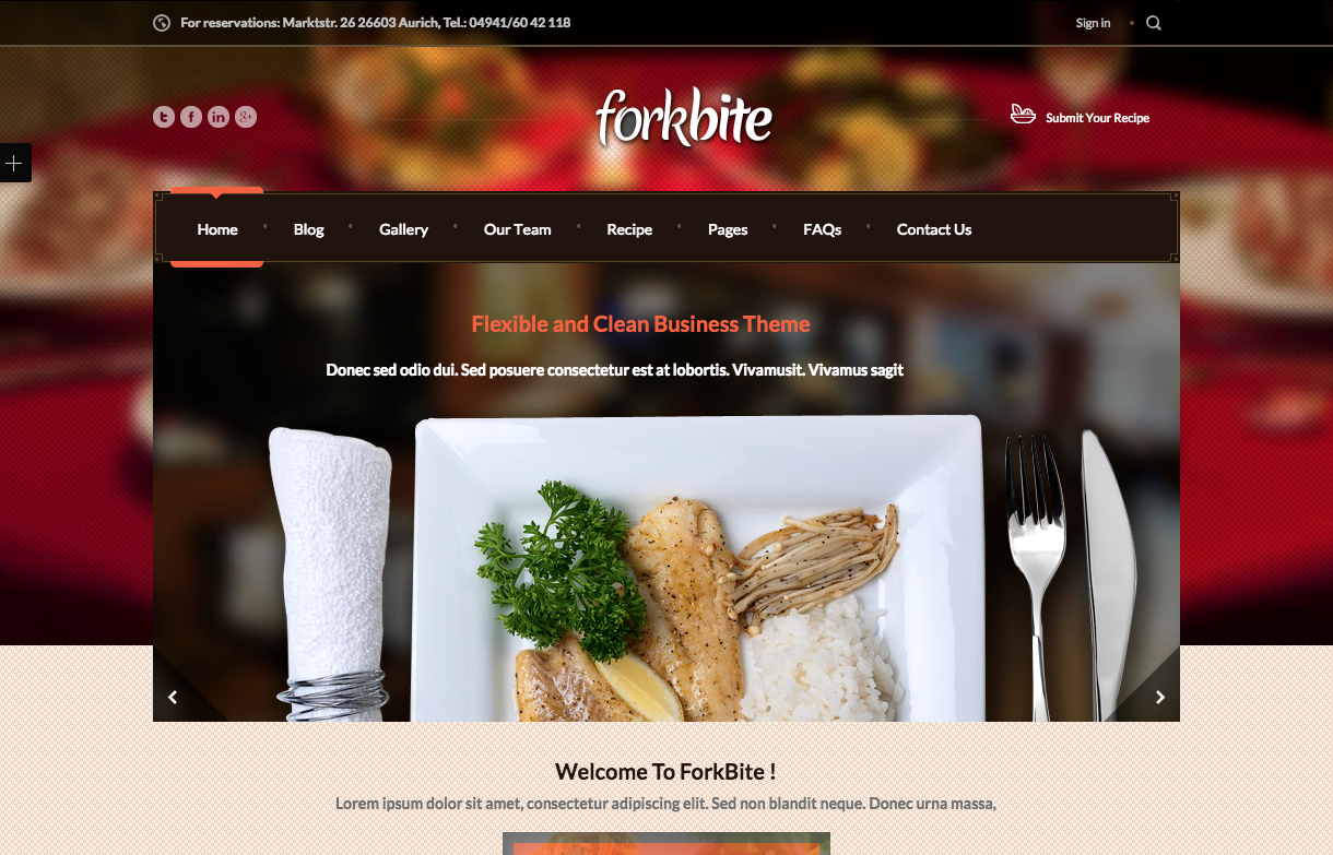 Forkbite Theme for Food Blogs