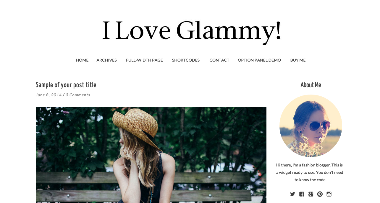 Glammy WordPress Theme for Food Blogs