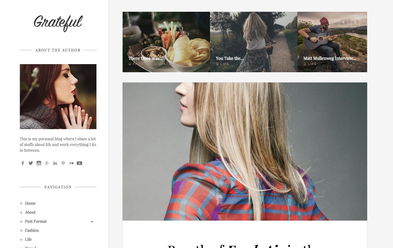 Grateful Theme for WordPress Blogs
