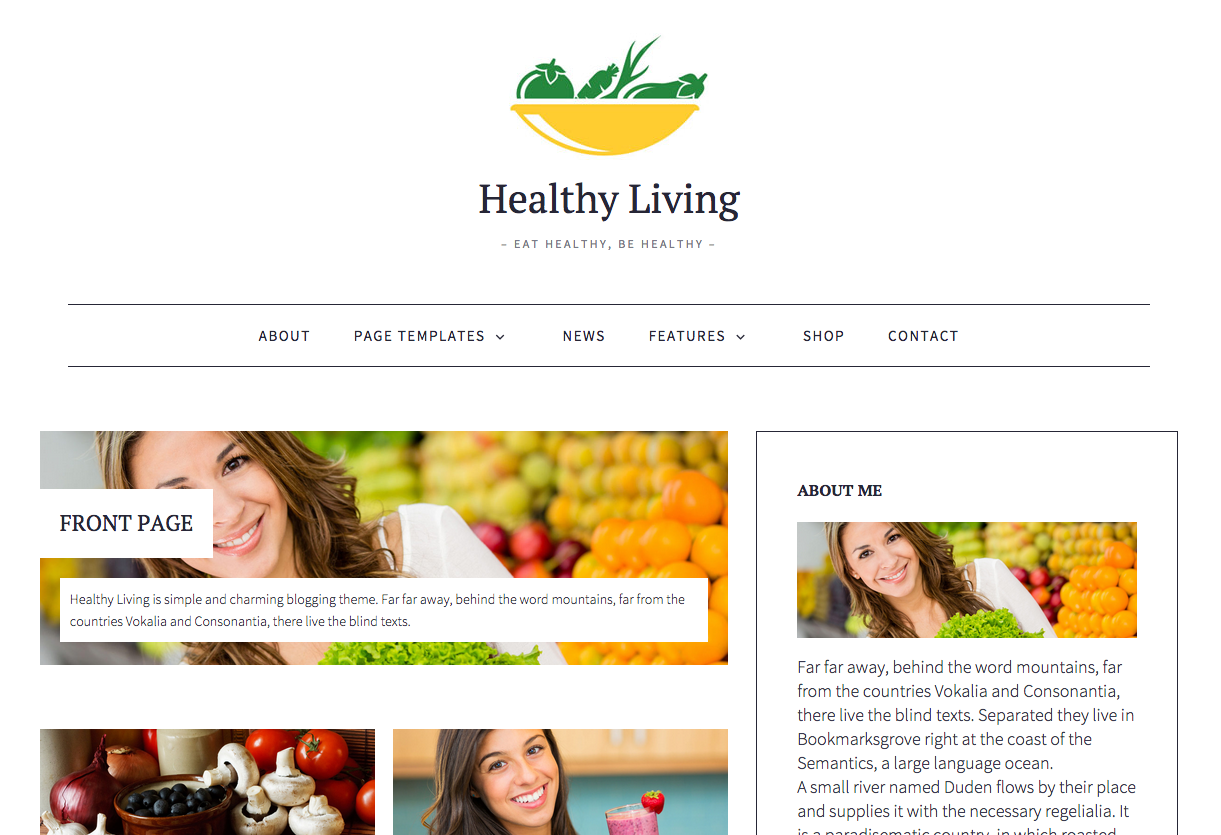Healthy Living WordPress Food Blog Theme