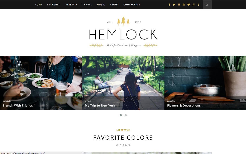 Hemlock Theme for WordPress Blogs