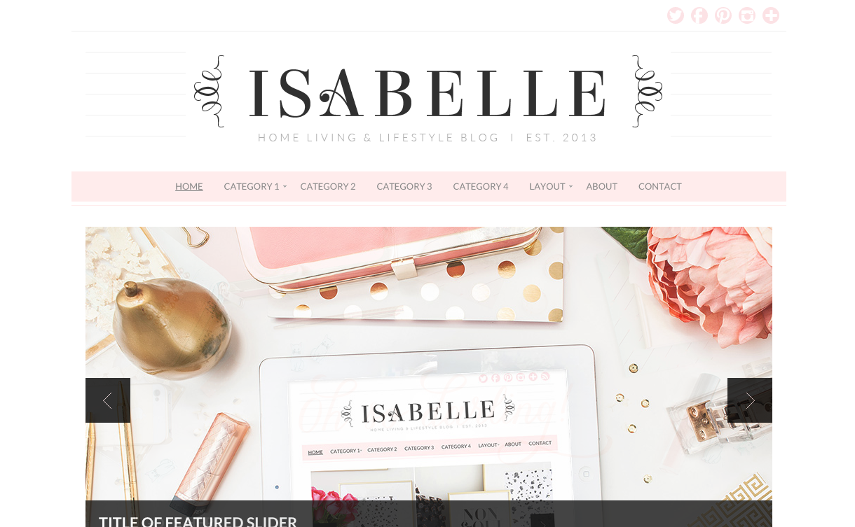 Isabelle Theme For WordPress Blogs