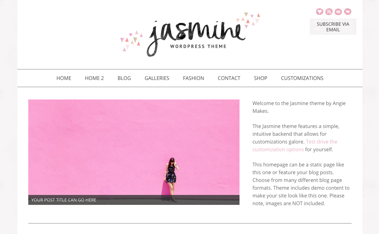 Jasmine Theme for WordPress Blogs
