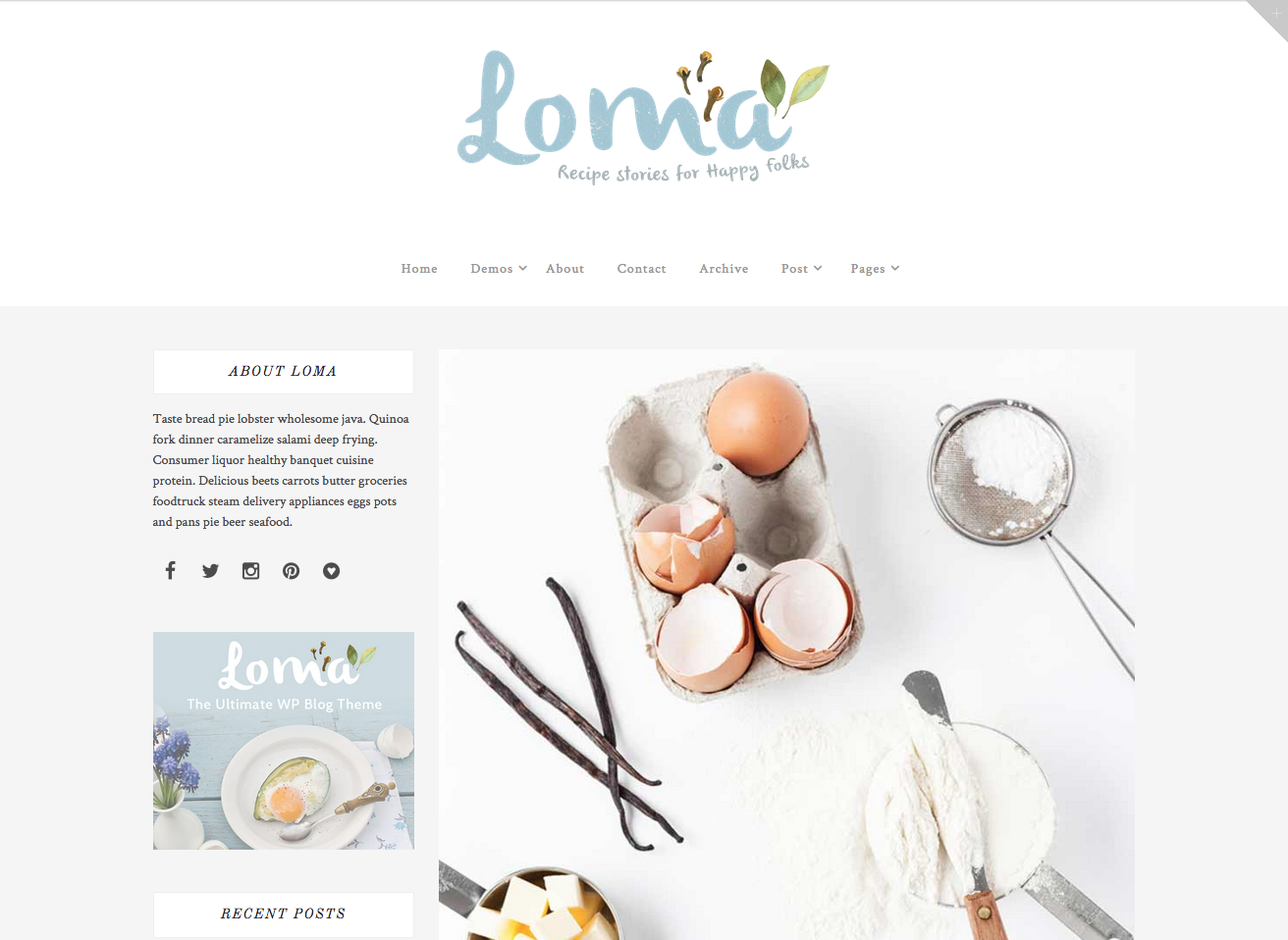100 best wordpress themes for food blogs 2017 loma food loma forumfinder Images