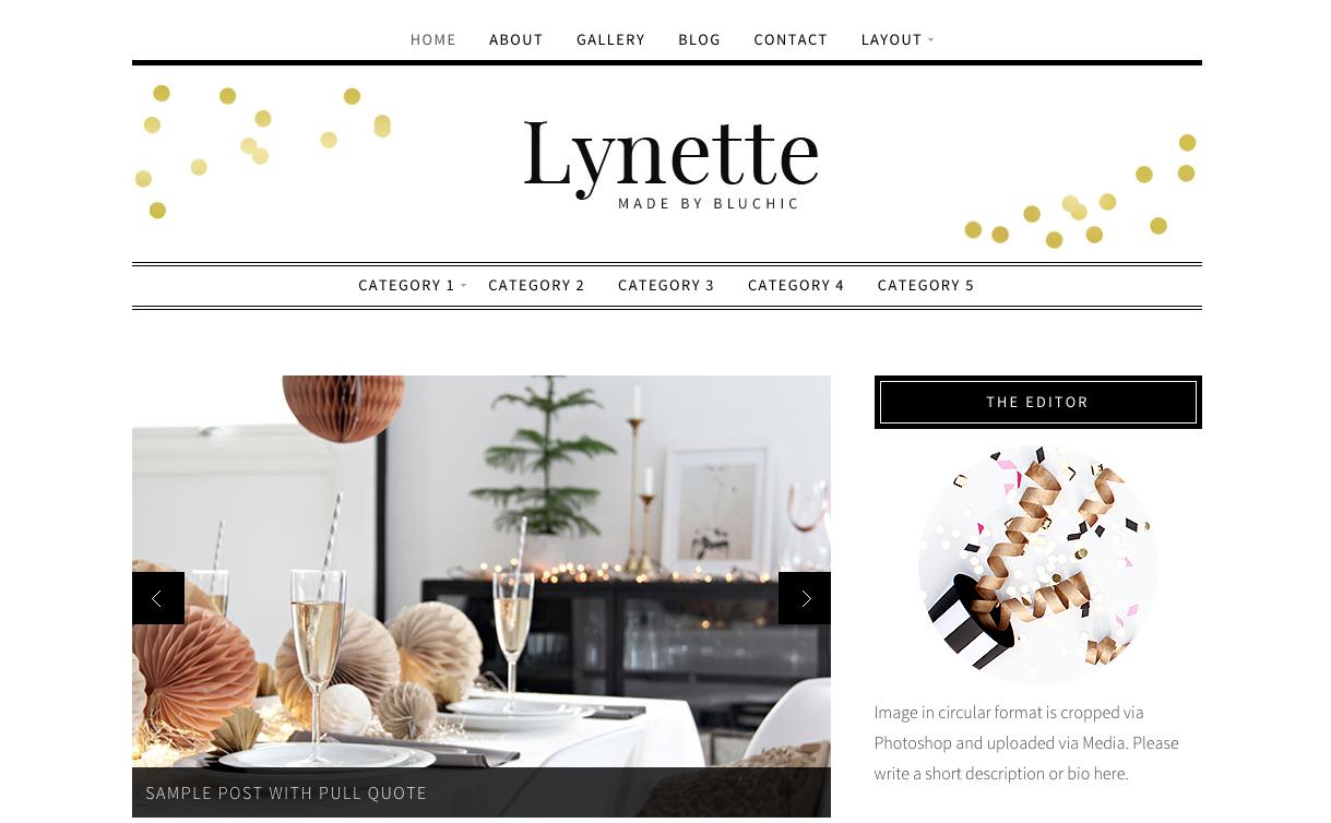 Lynette Theme for WordPress Blogs