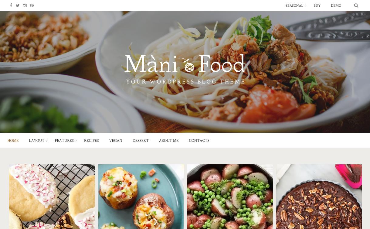 Mani Food Theme for WordPress Food Blogs